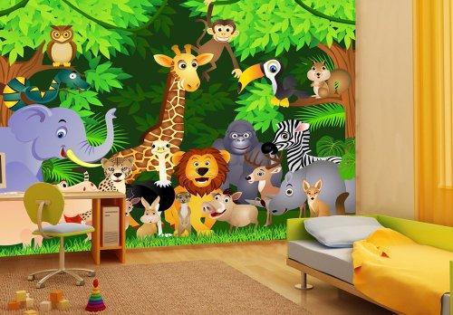 Kinderzimmer Tapete Dschungel : Kinderzimmer Tapete Dschungeltiere Beige Blau Pictures to pin on