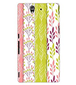 SONY XPERIA Z LEAFES PATTERN Back Cover by PRINTSWAG