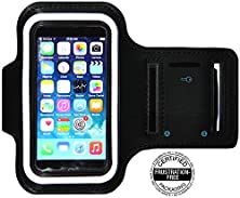 buy Iphone 5/5S/5C Running & Exercise Armband With Key Holder Card Slot / Money Holder & Reflective Band | Also Fits Iphone 4/4S (Black)
