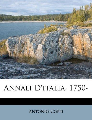 Annali D'italia, 1750-