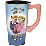 I Love Lucy Best Friends Ceramic Travel Mug
