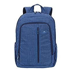 RivaCase 7560 Canvas Backpack for 15.6-inch Laptop (Blue)