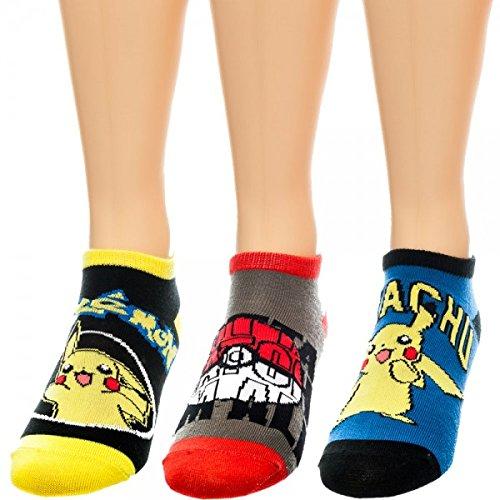 Calza alla caviglia-Pokemon-Set di 3anime nuovo regali giocattoli ufficiale as1s24pok