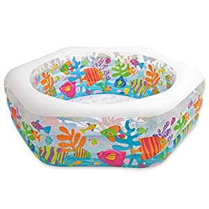 """Intex Swim Center Ocean Reef Inflatable Pool, 75"""" X 70"""" X 24"""", for Ages 6+"""