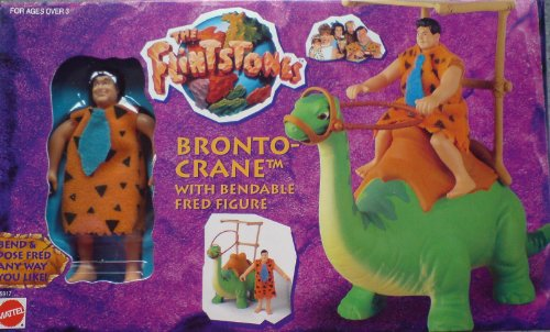 Buy Low Price Mattel Flintstones Bronto-Crane with Bendable Fred Figure (B001Z320TK)