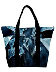 Snoogg Dark Scenes In The Shattered Glass 2618 Womens Large Shoulder Tote Bag