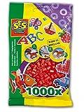 SES Creative - Cuentas para planchar, color rojo (00702)