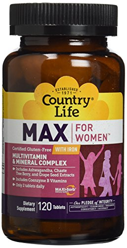 Country Life Maxine for Women, 120 Tablets