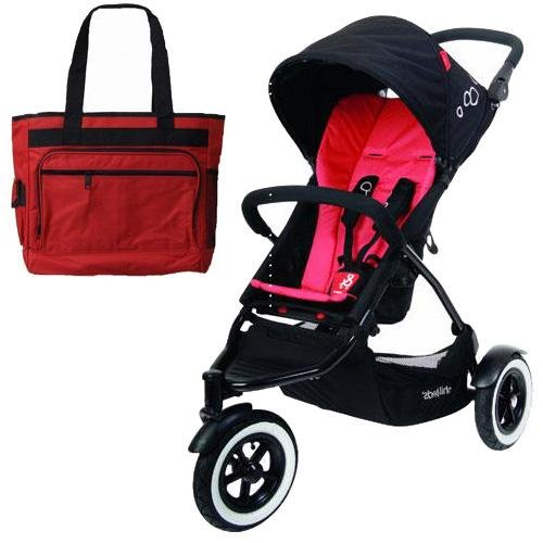 Phil Teds Dot Buggy Stroller With Diaper Bag - Chili front-986762