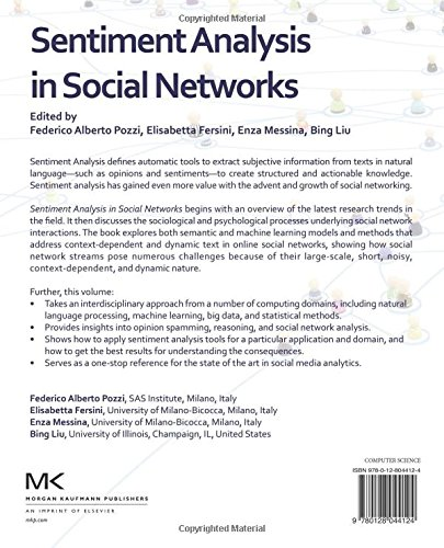 Buy Sentiment Analysis in Social Networks Book Online at Low ...