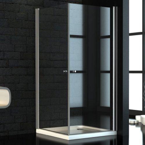 Glas Dusche Rahmenlos : Glas Duschkabine, mit Eckeinstieg ? 90 x 90 cm inkl. Duschwanne