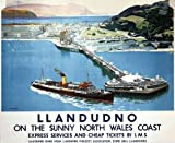 Vintage Poster Shop Vintage LMS Llandudno North Wales Railway Poster A3 Reprint