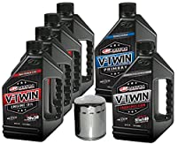 MaximaHiflofiltro VTTOCK17 Complete Engine Oil Change Kit for V-Twin Full Synthetic Harley Davidson Evolution, 6 quart by MaximaHiflofiltro
