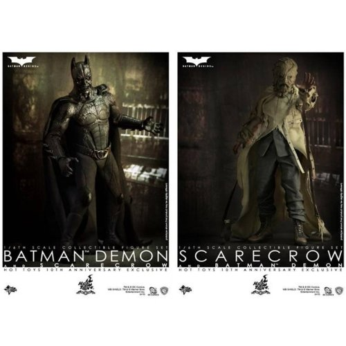 Hot Toys Batman Begins 10th Anniversary Exclusive Movie Masterpiece Deluxe Collectors 1/6 Scale Action Figure 2Pack Batman Demon Scarecrow at Gotham City Store