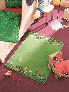Haba Alfombra infantil / niños Pradera / Marca de calidad: libre de contaminación / Composición: 100% Lana Nueva Zelanda / Grosor del hilo: / Diseño: Floral / Fabricación: / Habitación: Cuarto de los niños