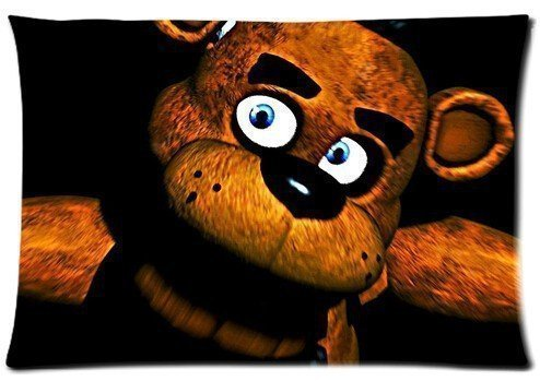 Custom Five Nights At Freddy's Bear Pillowcase 20x36 two sides Zippered Rectangle PillowCases Throw Pillow Covers