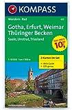 Gotha - Erfurt - Weimar - Thüringer Becken - Naturpark Saale-Unstrut-Triasland: Wanderkarten-Set mit Aktiv Guide in der Schutzhülle. GPS-genau. 1:50000