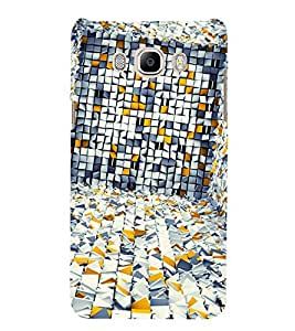 White Yellow Grey Pattern 3D Hard Polycarbonate Designer Back Case Cover for Samsung Galaxy J7 (6) 2016 Edition :: Samsung Galaxy J7 (2016) Duos :: Samsung Galaxy J7 2016 J710F J710FN J710M J710H