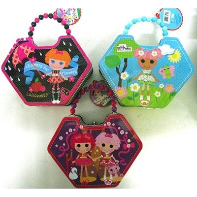 Lalaloopsy Diamond Shape Tin with Beaded Handle (3 Designs) - 1