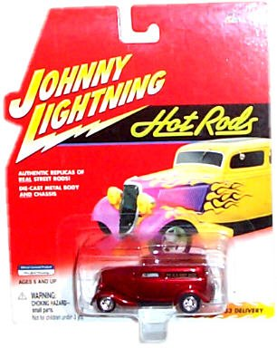Johnny Lightning - Hot Rods - 1933 Delivery (Dark Red/Maroon)