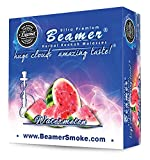 Watermelon Beamer® Ultra Premium Hookah Molasses 50 Gram Box. Huge Clouds, Amazing Taste!® 100 % Tobacco, Nicotine & Tar Free but more taste than tobacco! Compares to Hookah Tobacco at a fraction of the price! GREAT TASTE, LOTS OF SMOKE & SMELLS GREAT!!! Proudly made in the USA!