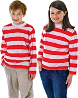 Red / White Striped Jumper - Childrens Fancy Dress Costume
