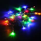 Pixnor 4M 40-LED 3-Mode Battery Powered LED String Lights Decorative Lights for Christmas Wedding Party (Colorful Light)