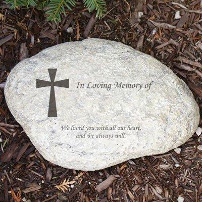"""GiftsForYouNow Engraved Memorial Garden Stone, 11""""W, Durable, Waterproof, Outdoor/Indoor"""