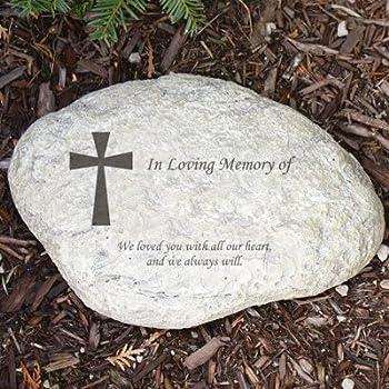 GiftsForYouNow Engraved Memorial Garden Stone, 11