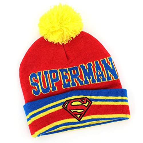 Superman Infant Toddler Knit Hat (Red) (Superman Caps compare prices)