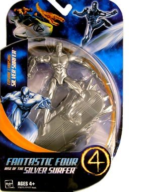 Picture of Hasbro Fantastic Four: Rise Of The Silver Surfer Cosmic Cruising Silver Surfer Action Figure (B0013TW6EU) (Fantastic Four Action Figures)