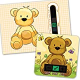 A6 Beige Bear Room Thermometer and Bear Bath Thermometer Set