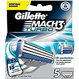 Ancienne version Gillette  MACH3 Turbo - Pack de 5 recharges