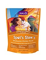 Halo Spot's Stew Holistic Dry Cat Food, Wholesome Chicken, 11.5 LB Bag of Indoor Cat Food and Kitten Food