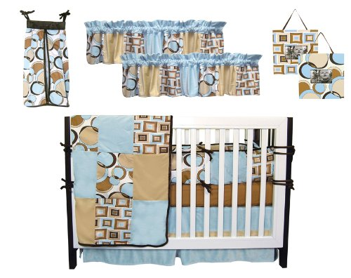 Best Seller Bubbles Teal 9Pc Crib Set By Trend Lab front-260378