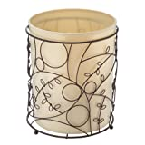 InterDesign Twigz Bath Collection, Waste Can, Vanilla/Bronze