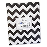bloom daily planners 2015 Calendar Year Monthly Planner - Goal Organizer - Fashion Agenda - MONTHLY Planner - (January 2015 Through December 2015) Black & White Chevron