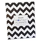 2015 Calendar Year Monthly Planner Fashion Organizer Agenda January 2015 Through December 2015 Black and White Chevron Monthly Planner 9