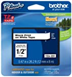 "Brother P-touch ~1/2"" (0.47"") Black o..."