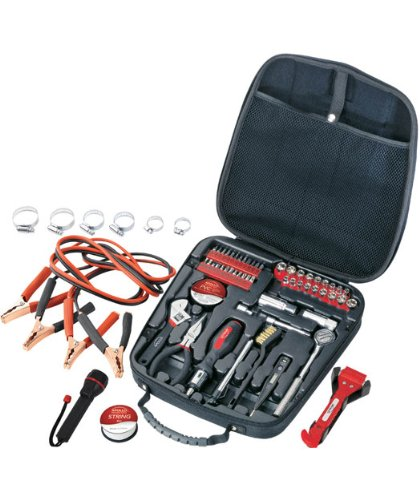 Apollo Precision Tools DT0101 Travel & Automotive Tool Kit, 64-Piece (Small Tool Set For Car compare prices)