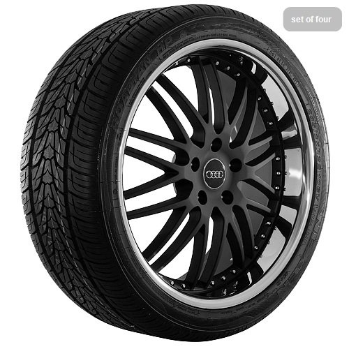 22 Inch black 105 Series Wheels Rims and Tires