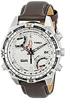 Timex - T49866D7 - Intelligent Quartz - Montre Homme - Quartz Analogique - Cadran Beige - Bracelet Cuir Marron