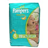 Pampers Baby-Dry Nappies Size 6 XL 19 Pack