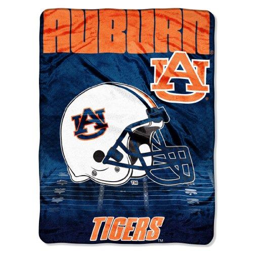 "Ncaa Auburn Tigers 60-Inch-By-80-Inch Micro Raschel Blanket, ""Overtime"" Design front-496421"