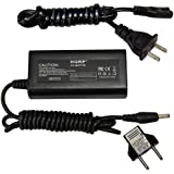 HQRP AC Power Adapter for Casio Exilim EX-Z700, EX-Z750, EX-Z850, EX-Z1000 Digital Camera (incl. USA Plug & Euro Adapter)