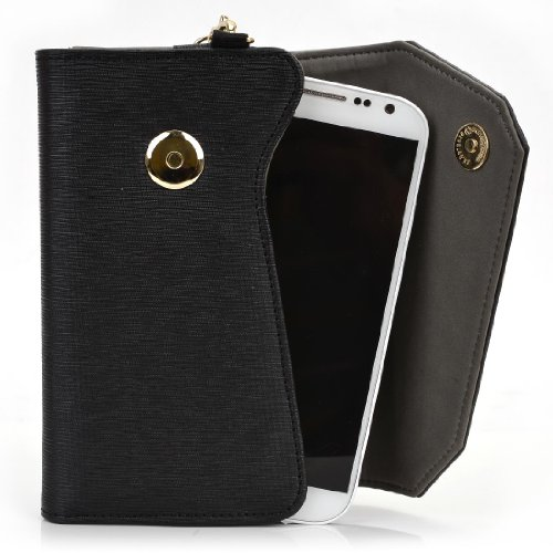 Kroo® Acer Liquid Gallant E350 Wallet Covers | Wallet Case With Chain Strap & Money Pocket front-1053377