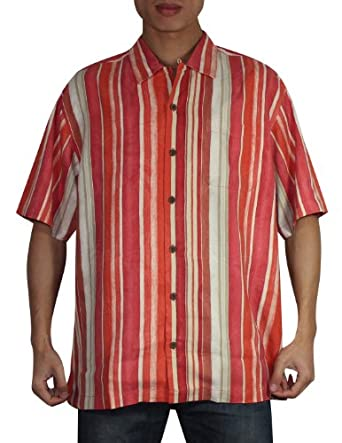 Tommy bahama mens button down short sleeve for Mens silk shirts amazon