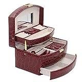 Knott Maroon Croco Designer Jewellery Makeup case