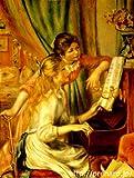 ルノアール 「ピアノに寄る娘達」 原画同縮尺近似 (50号) renoir-07-09