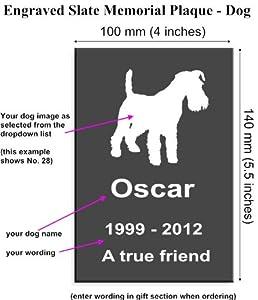Personalised Engraved Pet Memorial plaque - Pet Memorial Sign - Dog (5.5